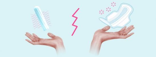 תמונה של שתי ידיים. מעליהן יש מצד שמאל טמפון ומצד ימין תחבושת. התמונה ממחישה את התועלות השונות של מוצרי ההגנה הללו.