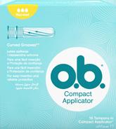 תמונה של אריזת טמפון o.b.® עם מוליך נורמל. לטמפון יש 3 טיפות והוא מומלץ לזרימה קלה עד בינונית..